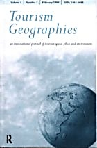 Tourism Geographies cover